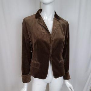 J. Crew Cotton Brown Velvet Blazer Jacket